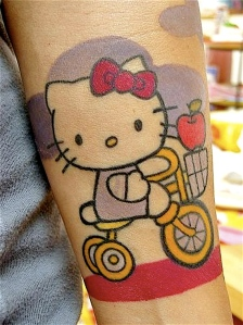 Hello Kitty on my trike
