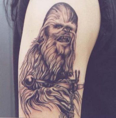 Tattoos gone wrong: Star Wars was great, but not body-great.